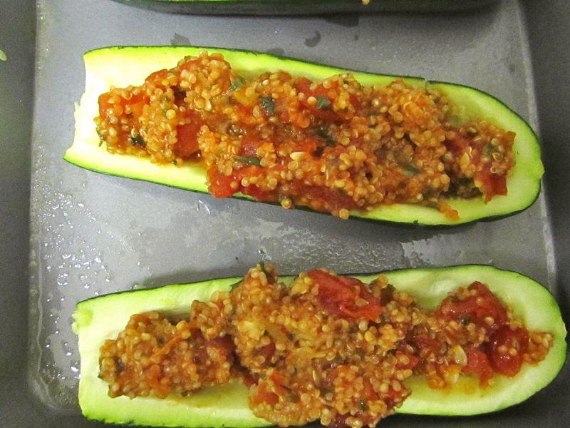 Stuffd-zucchini prebake